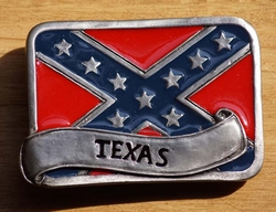 "Buckle / gesp  "" Rebel vlag  Texas """
