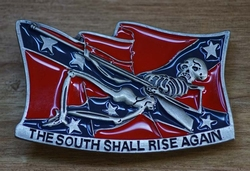 "Buckle / gesp  "" The south shall rise again """