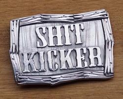"""Tekst gesp """" Shit kicker """"  Relschopper"""