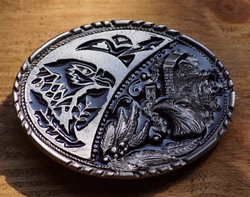 """Siergesp """" Indiaanse kunst met adelaars motieven """""""
