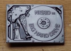 """Humor gesp  """" Nerd = Big hard drive """"    UITVERKOCHT"""