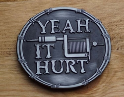 "Tekst buckle  "" Yeah it Hurt """