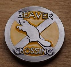 "Humor gesp  "" Beaver crossing """