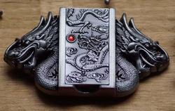 Chinese draken buckle met aansteker  UITVERKOCHT