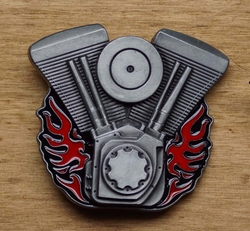 "Motor buckle  "" V-Twin Motorcycle Engine Bike """