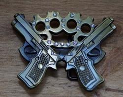 """Belt buckle  """" Pistolen met boksbeugel """"  UITVERKOCHT"""