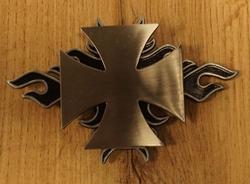"""Buckle / gesp """" Maltezer kruis met vlammen """" UITVERKOCHT"""