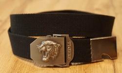 "Canvas riem met koppelgesp  "" Nissan ""  zwart"