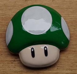 "Buckle  "" Super Mario ""   Mushroom  Groen / wit"