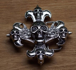 "Belt buckle  "" Kruis skulls """