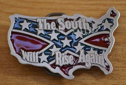 "Gesp buckle  "" The south will rise again """