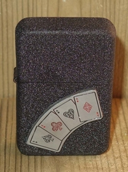 """Aansteker  """" Casino  4 azen """"   Zwart"""