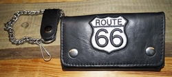 "Trucker portemonnee   "" Route 66 ""  Zwart / wit"