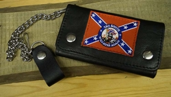 "Trucker portemonnee   "" The south will rse again ""   Zwart"