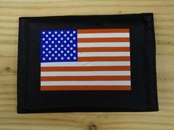 "Portemonnee   "" Americaanse vlag ""   Zwart"