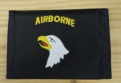 """Portemonnee   """" Airbone  Adelaar """"   Zwart"""