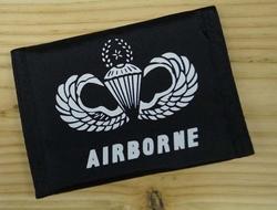 "Portemonnee   "" Airbone  US Navy parachute ""   Zwart"