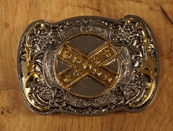 "Belt buckle  "" Revolver met rebelvlag """