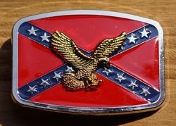 """Buckle / gesp  """" Rebel vlag met adelaar """"   UITVERKOCHT"""