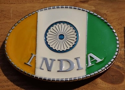 "Gesp buckle  "" Vlag India """