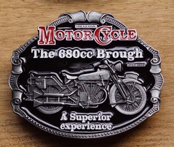 "Motor cylce buckle  "" The 680cc Brough a superior .... """