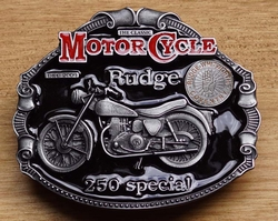 "Motor cylce buckle  "" Rudge 250 special """