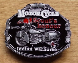 "Motor cylce buckle  "" Scout's hounour Indian """