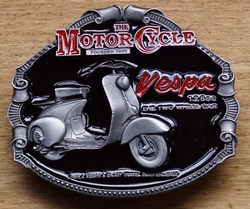 "Motor cylce buckle  "" Vespa 125 cc The two wheel car """
