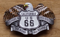 "Buckle  "" California us 66 ""    Adelaar"