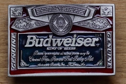 "Buckle  "" Budweiser king of beer """