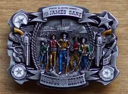 "Western buckle  "" James gang legend heroes """