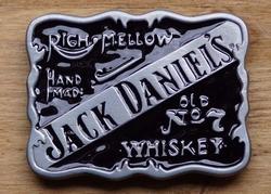 """Jack Daniels gesp """" Righ mellow, hand made, UITVERKOCHT"""