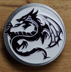 "Tattoo buckle / gesp  "" Celtic draak """