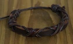 "Leren armband  ""  Bruin  """