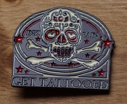 "Belt buckle   "" Doodshoofd get tatttooed """