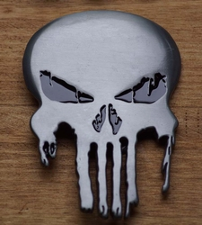 "Belt buckle  "" The Punisher ""  Zilver  UITVERKOCHT"