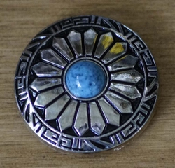 "Concho  "" Western styl met blauwe steen  """