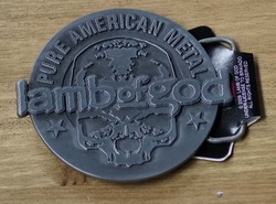 "Muziekband buckle  "" Pure American metal Lamb of God """