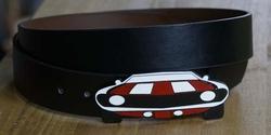 Voorkant auto buckle + zwart buckle riem