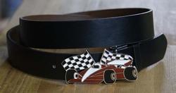 Racing car buckle + zwart buckle riem