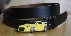 Gele sport auto buckle + zwart buckle riem