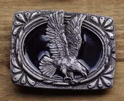 "Belt buckle  "" Eagle ""  Black / silver"