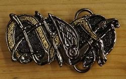 """Belt buckle  """" Celtic twin snake """""""