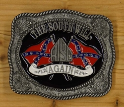 "Buckle / gesp  "" The south will rise again """