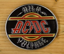 "Belt buckle  "" AC / DC ""   High voltage"