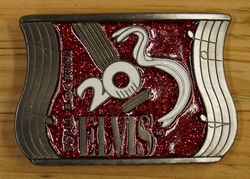 "Elvis buckle  "" Elvis ""  Still Rockini    Rood"