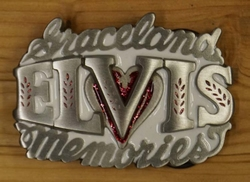 "Elvis buckle  ""  Graceland Elvis memories "" Wit"
