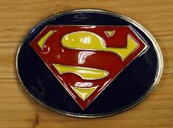 """Gesp buckle  """" Superman """"  Blauw / rood / geel UITVERKOCHT"""