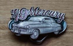 """Verzamel buckle  """"  Klassieker 49 Mercury """"  UITVERKOCHT"""