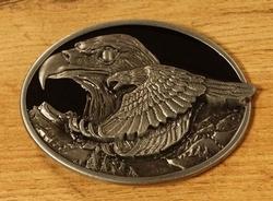 """Buckle  """" Vliegende adelaar """"  Zilver / goudkleurig"""